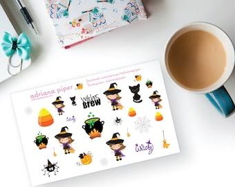Witchy Stickers  for Erin Condren Life Planner, Plum Paper Planner, Filofax, Kikki K, Calendar or Scrapbook SH-433