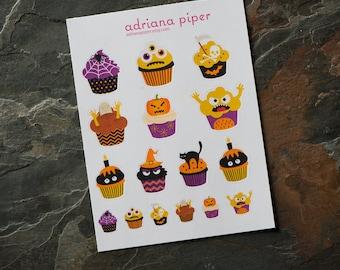 Creepy Cupckaes Stickers  for Erin Condren Life Planner, Plum Paper Planner, Filofax, Kikki K, Calendar or Scrapbook SH-402