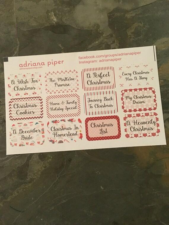 Hallmark Holiday Movies Stickers For Erin Condren Life Etsy