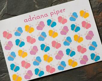 Butterfly Stickers  40 ct for Erin Condren Life Planner, Plum Paper Planner, Filofax, Kikki K, Calendar or Scrapbook AI-100