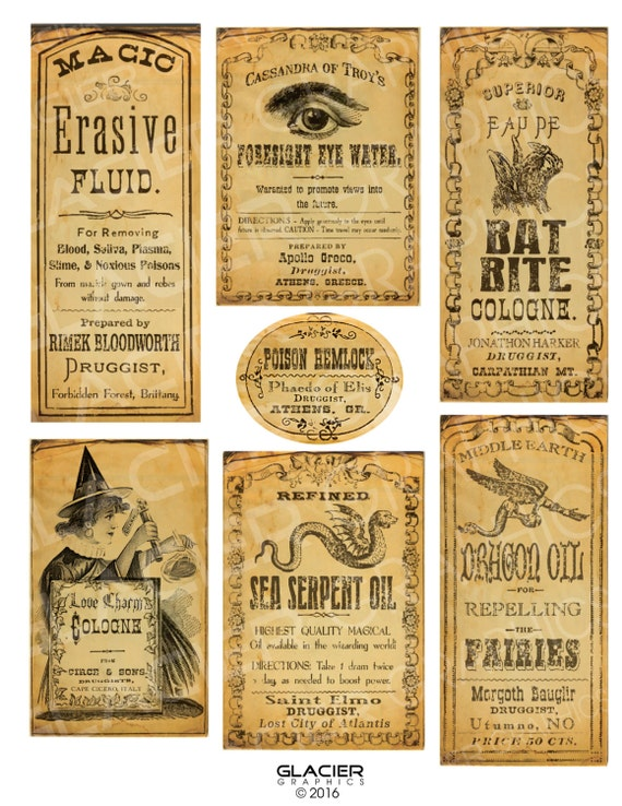 photo regarding Free Printable Halloween Poison Bottle Labels known as Halloween Witch Poison Bottle Labels Halloween Witch Potion Bottle Tags Electronic Obtain Printable Drug Label Collage Sheet Sbook Graphic