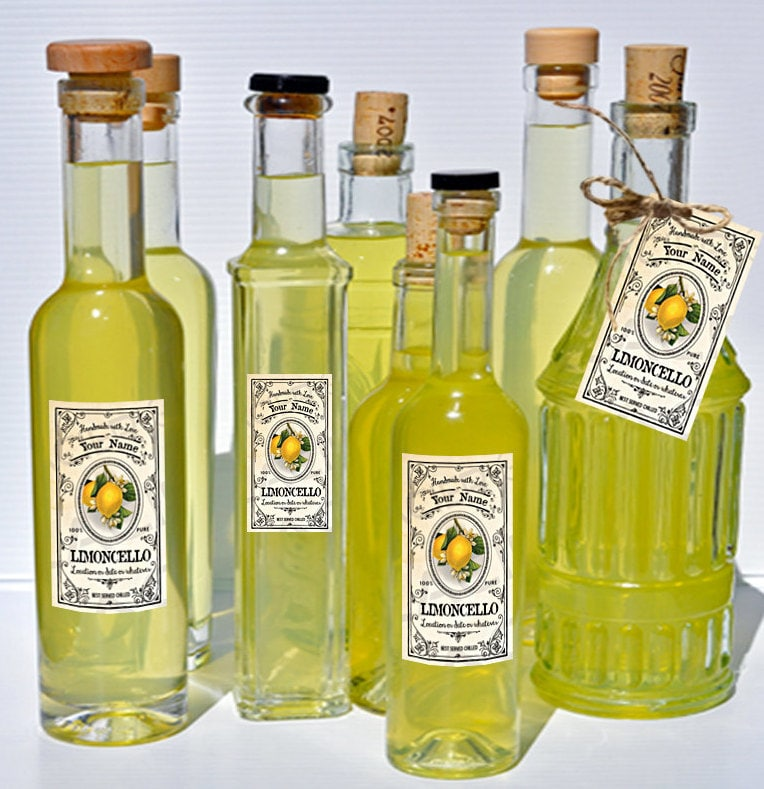 Customized Limoncello Labels Limoncello Gift Labels Download Etsy