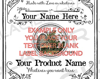 Square Honey Labels Vintage Raw Honey Tags Honey Gift Labels Digital Download DIY Honey Wedding Favors Labels Template YOU ADD Text