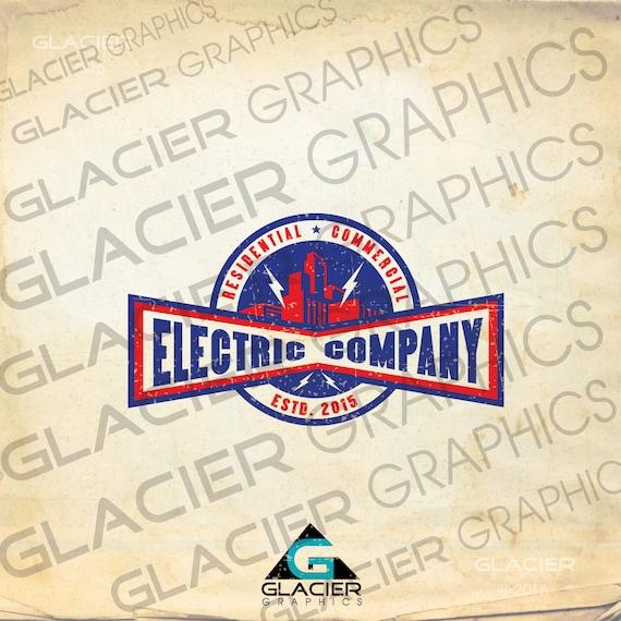 Custom Logo Vintage Electrician Logo Electrical Logo Etsy