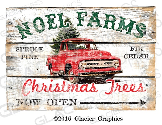 Country Christmas Tree Farm Primitive Sign Digital Download Etsy