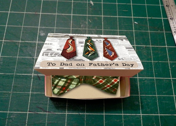 Fathers Day Gift Box Template DIY Tie