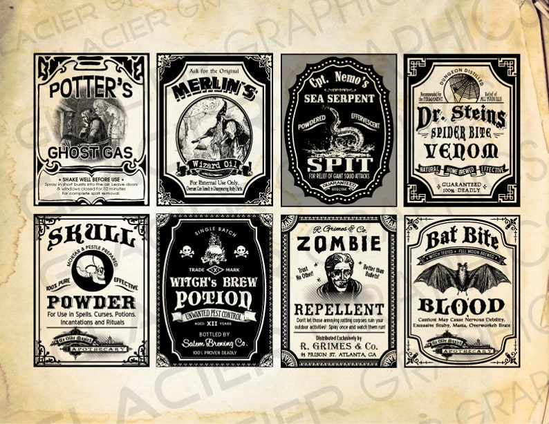 photo relating to Free Printable Halloween Poison Bottle Labels identify Halloween Witch Labels Poison Apothecary Tags Potion Bottle Halloween Bottle Labels Printable Collage Sheet Clip Artwork Sbooking
