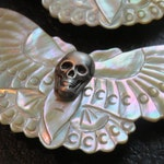 The Death's Head Moth Mother of Pearl Brooch
