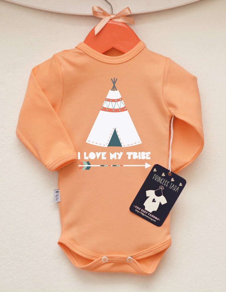Teepee Baby Shirt Many Colors Available. Love My Tribe Baby Bodysuit Tribal Baby Clothes Hipster Baby Bodysuit