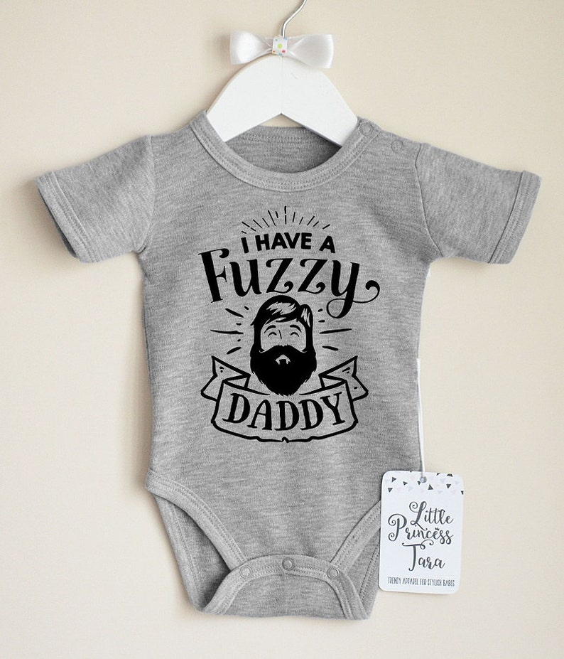 eacd1304 Hipster Baby Clothes. Fuzzy Daddy Baby Romper. Funny Baby Boy | Etsy