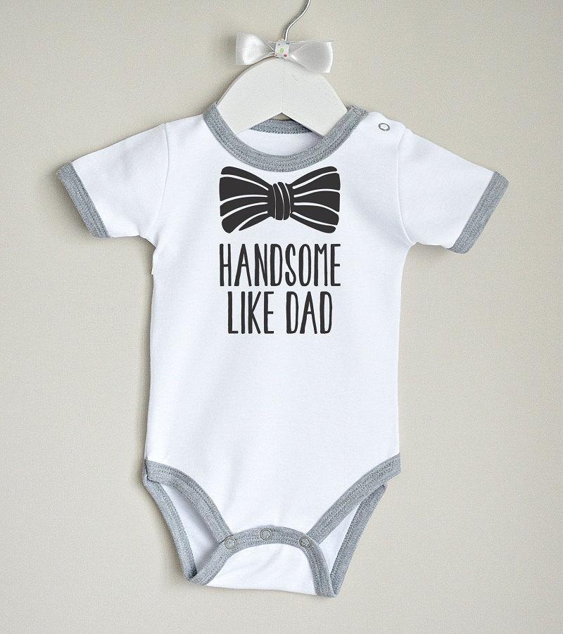 4ac643922 Beau comme papa vêtements pour petit garçon. Bébé Body garçon avec noeud  graphique. Vêtements pour bébé garçon. Chemise de garçon hipster. ...
