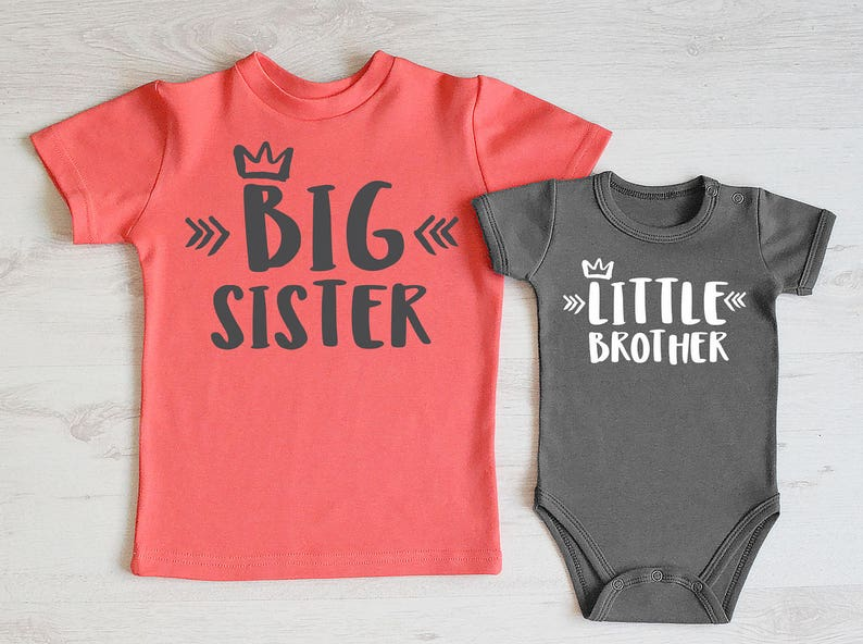 ab505c369a9d8 Big Sister Little Brother Outfit. Big Sister Shirt & Little | Etsy