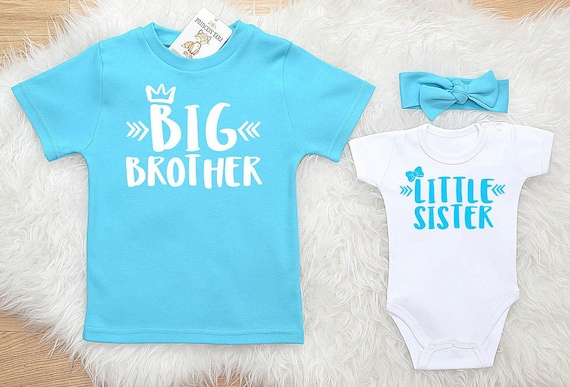 Baby Shower Gift Custom Matching Sibling Set Take Home Outfit Personalized Big SisterLittle Brother Matching Sibling Set