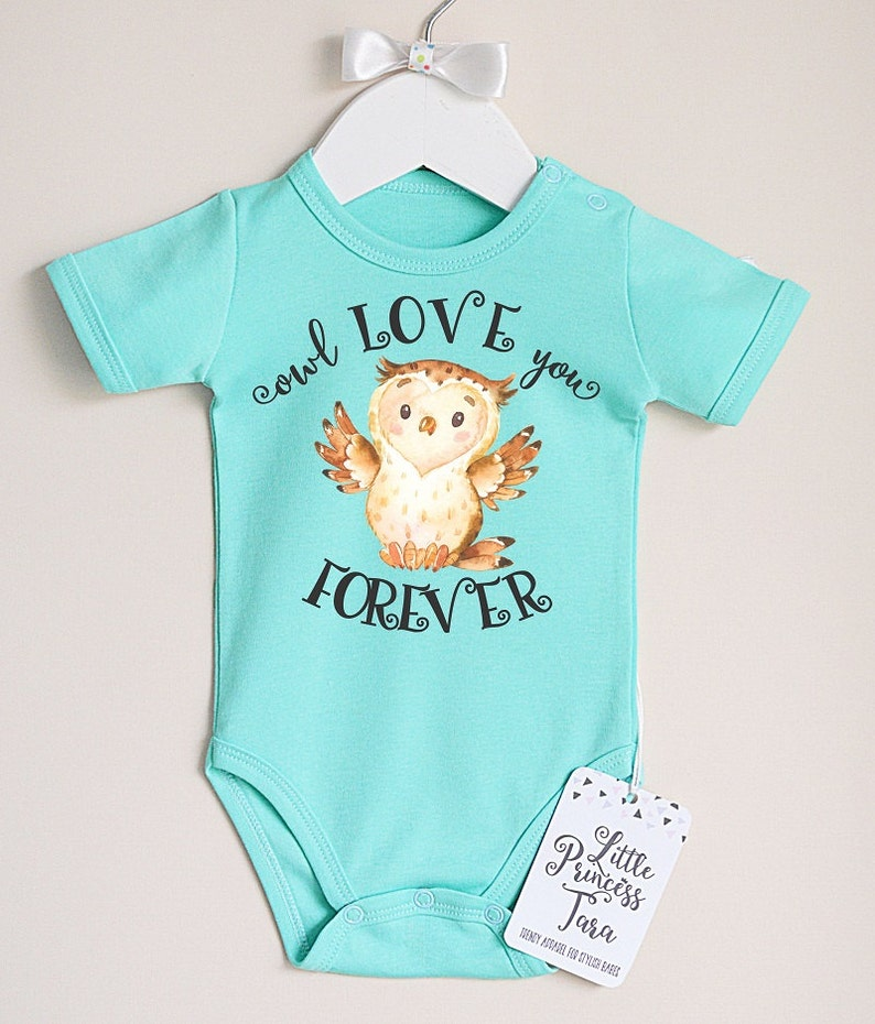 e21ee873a Owl Baby Bodysuit. Baby Girl or Baby Boy Romper With Cute Owl | Etsy