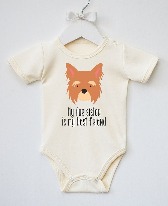 33454c176 Dog Baby Clothes. Baby Bodysuit with Cute Puppy Print. Baby