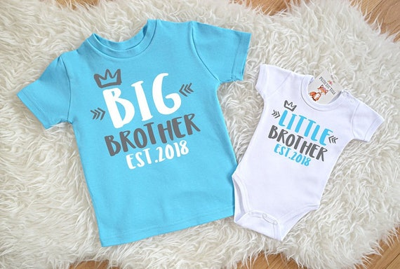 big brother little brother est 2018 set big bro lil bro etsy