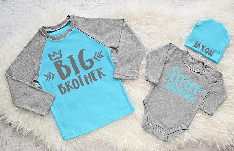 0bb7a033b Personalized Brother Shirts. Big Brother Shirt. Little Brother Bodysuit &  Beanie. Big Brother Little Brother. Baby Brother. Add Your Name