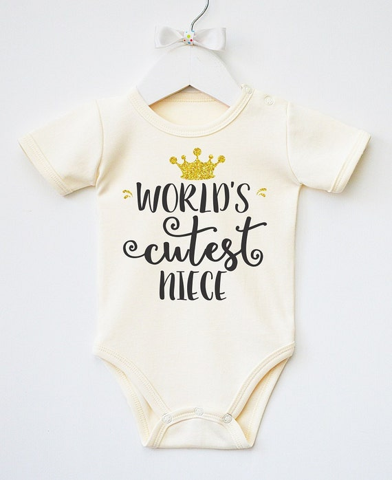 0-3 Months Cutest Niece Ever Baby Hoodie Top Long Sleeved T-Shirt Baby Shower Gifts New Baby Girl Gifts Aunty Black