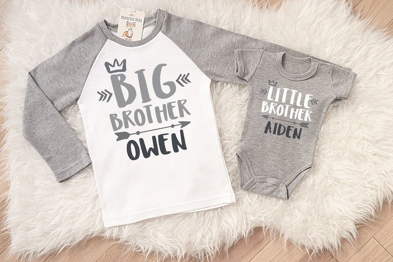 87c46809 Personalized Big Brother Little Brother Shirts. Matching | Etsy