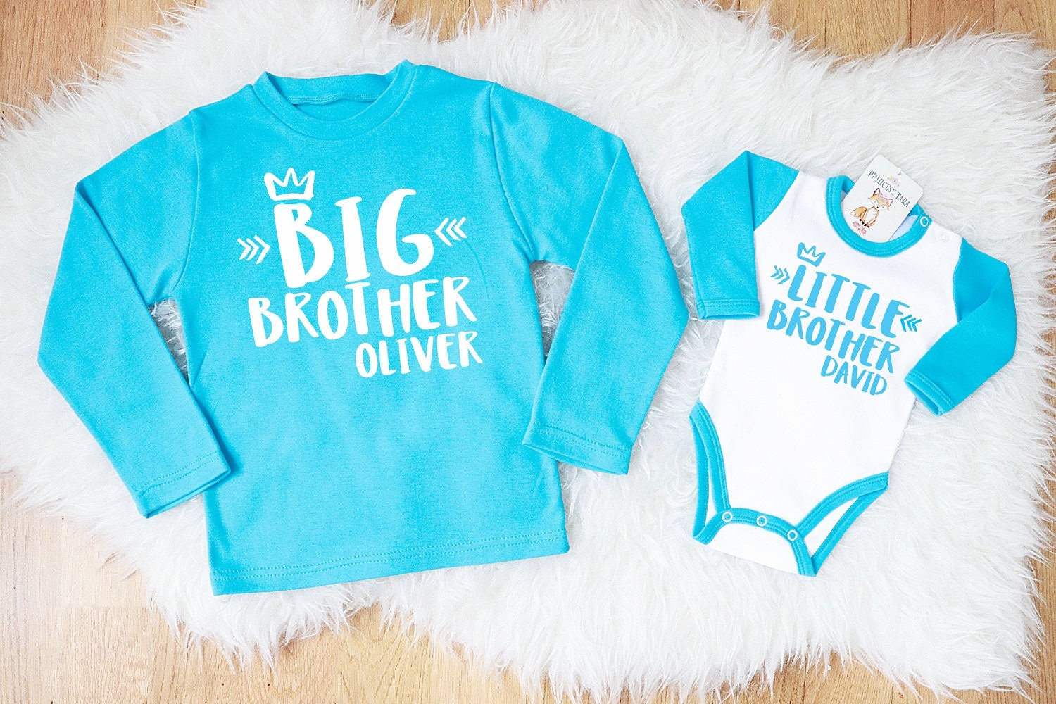 Big Brother Little Brother Shirts Aqua Blue Big Brother Etsy
