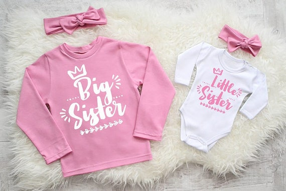 Cute Big Sister And Little Sister Matching Outfits Big Sister Etsy