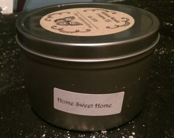 Home Sweet Home 16 ounce Large Tin Soy Candle