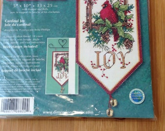 Dimensions Mini Banner, Christmas Joy with Red Cardinal