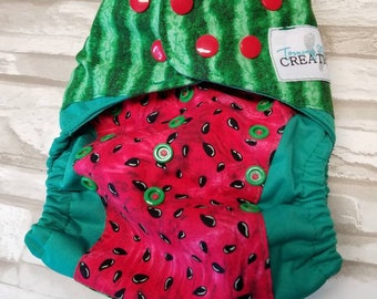 Watermelon OS Diaper fitted, AI2, Pocket