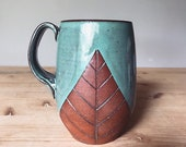 Large Ceramic Mug (Made to Order)- Oversized Jumbo Mug - Terracotta Red Clay - Handmade Modern Simple Minimal Southwestern Pottery by Osa
