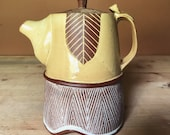 Ceramic Teapot - Yellow - Geometric Pattern - Pottery by Osa