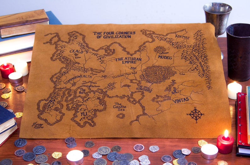The Kingkiller Chronicle Map on Suede on the riyria chronicles map, unicorn chronicles luster of a map, powder mage trilogy map, terry pratchett discworld map, jim butcher codex alera map,