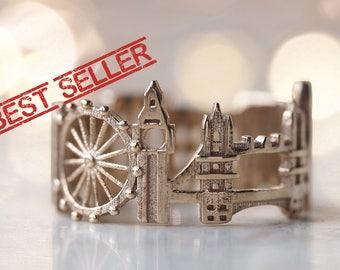 London Ring - Statement Ring for Women - Mothers Day Gift for Her - Birthday Gift - Shekhtwoman- Best Seller