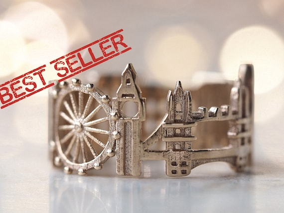 London Skyline Ring Statement For Women Mothers Day