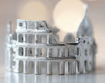 Rome Ring for Women - Cityscape Ring - Skyline Ring - Statement Ring for Her - Rings for Women - Anniversary Gift - Mothers Day