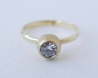 seed pod diamond ring