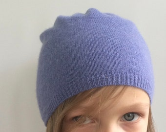 242302bed02 Upcycled Cashmere Slouch Hat - Recycled Cashmere Slouchy Beanie - Childs Slouchy  Hat - Upcycled Cashmere Sweater Hat - Size Child Medium