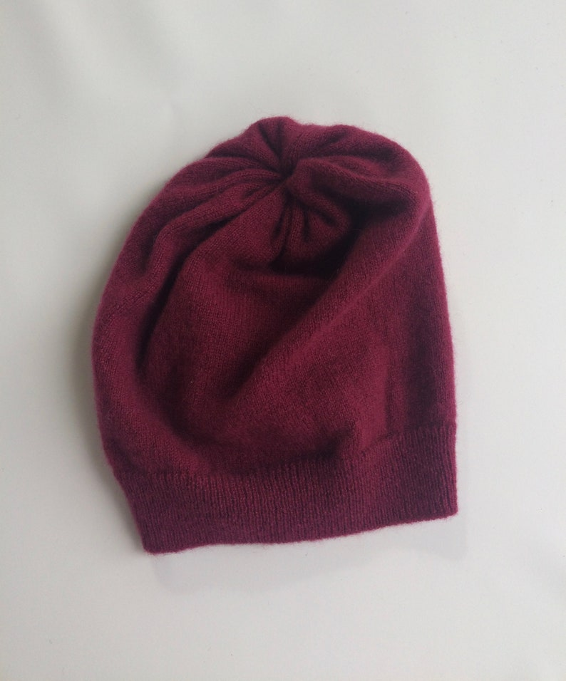 e4ef7b50 Baby Upcycled Cashmere Slouch Hat Recycled Cashmere Slouchy   Etsy