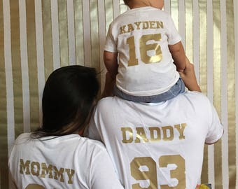Family Birthday Shirts Available In Various Shirt And Vinyl Colors