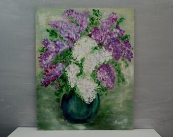 rosen in vase acryl auf leinwand von hand gemalten blumen etsy. Black Bedroom Furniture Sets. Home Design Ideas