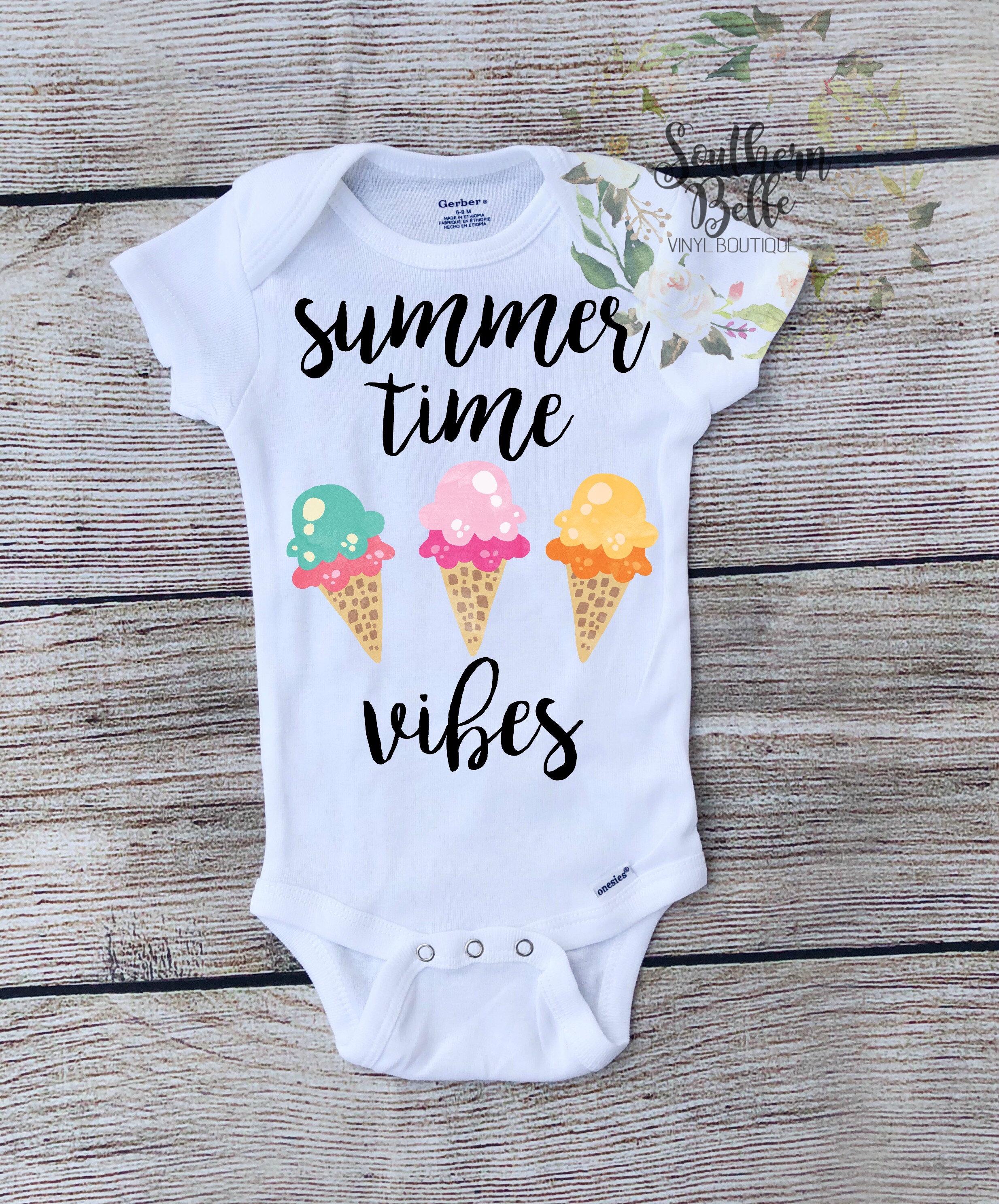 d35d16011 Summer time vibes , girls , boys , ice-cream onesie , summer time , baby  onesie