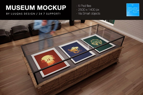 The Museum Psd Mockup Etsy