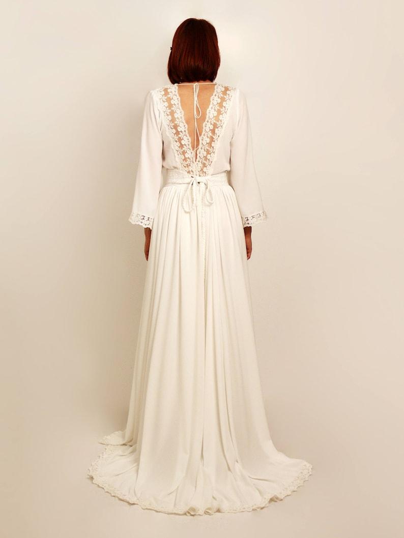 e703bf3b25 Boho suknia ślubna suknia ślubna w stylu rustykalnym