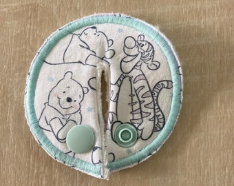 G G/J tube pads, G G/J tube covers, mic-key button made from Winnie the Pooh Fabric
