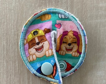 G G/J tube pads, G G/J tube covers, mic-key button made from Paw Patrol Fabric