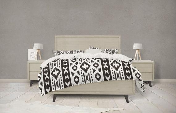 Black and White Boho Tribal Bedding | Etsy