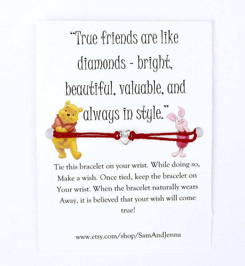 Winnie De Poeh Vriendschap Wensen Armband Biggen Leuke Gift Etsy