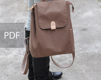 80ed40937787 Simple Day Casual Backpack - Bag PDF Sewing Pattern - with Sewing Tutorials  by niizo (no supplies)