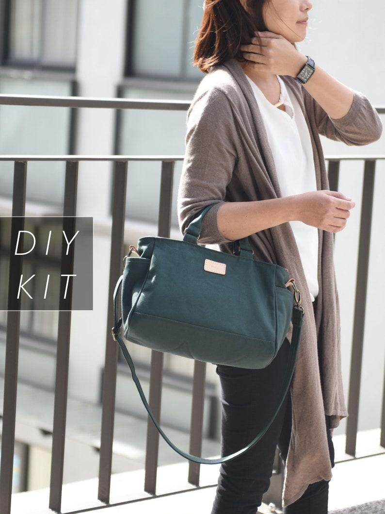 Craftsmanship Canvas Bag  Bag DIY Kit with Sewing Pattern & image 0