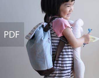My Little Baby Children Backpack - Bag PDF Sewing Pattern - with Sewing Tutorials by niizo (no supplies)