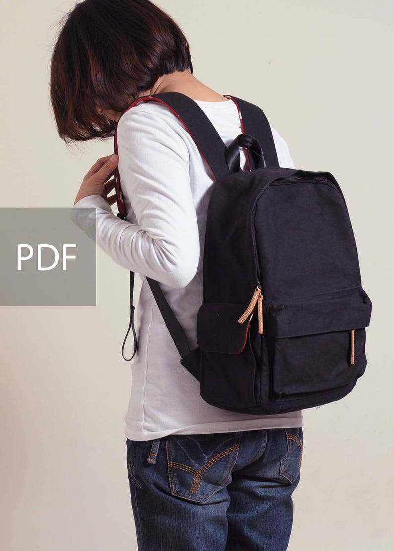 f8ac259e1589 Be Strong Multiple Pockets Backpack Bag PDF Sewing Pattern